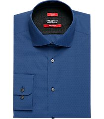 awearness kenneth cole awear-tech navy slim fit dress shirt