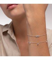 thomas sabo women's bracelet - silver/white