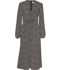 iris midi dress knälång klänning grå by ti mo