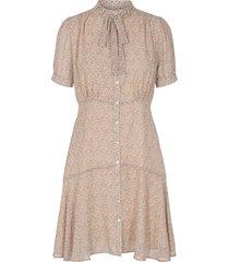 jurk met print cathy  beige