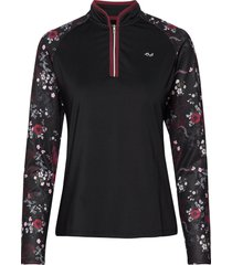 heat half zip sweat-shirt tröja svart röhnisch