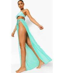 chiffon strand sarong met ceintuur, bright green
