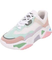 tenis moda dama sneakers  tellenzi 230 pastel