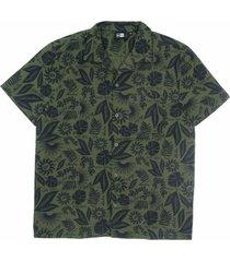 camicia manica corta ne floral all over print revere shirt