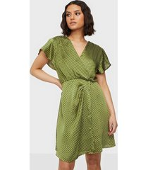 ax paris wrap dot dress loose fit dresses