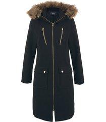 cappotto in simil lana con cappuccio (nero) - bpc bonprix collection