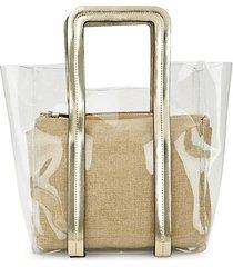 clear bag & linen pouch