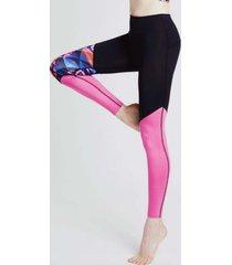 legginsy panther block pink