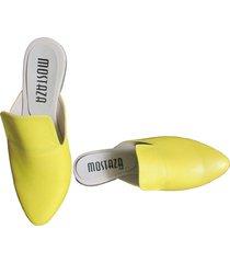 zuecos - mules - amarillos