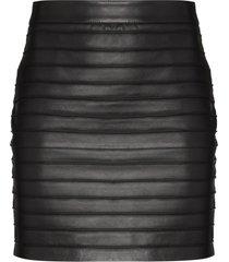 alessandra rich high-waist layered-look mini skirt - black