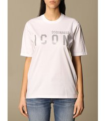 dsquared2 t-shirt dsquared2 cotton t-shirt with icon reflective logo