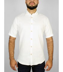 camisa blanca básica manga corta delascar - cb002