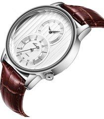 vigilanza multifunzionale del quarzo dell'orologio del quarzo dell'orologio impermeabile del cinturino degli uomini