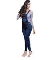 overall largo adulto para mujer marketing personal -azul.