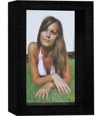 porta retrato caixa color 15x21cm preto