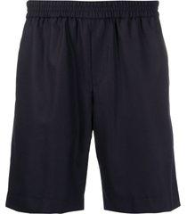 harmony paris woven track shorts - blue
