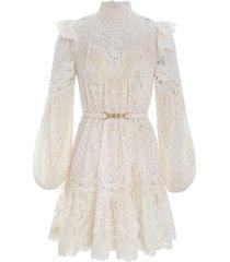 concert textured lace mini dress