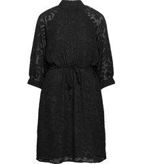 slfreese-damina 3/4 short dress b korte jurk zwart selected femme