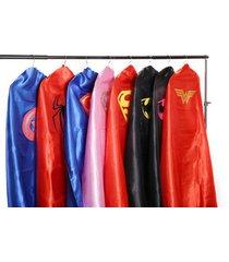 adult superhero cape (55 in) batman superman batgirl, wonder woman, spiderman