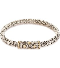 'legends naga' silver gold small bracelet