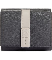 loewe leather trifold wallet in 1636 anthracite/ghost at nordstrom
