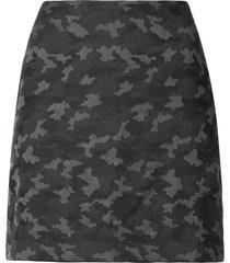 nicole miller camouflage mini skirt - black