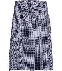blair knälång kjol blå jumperfabriken