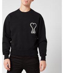 ami men's de coeur sweatshirt - noir - xl