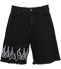 vision of super embroidered flame shorts