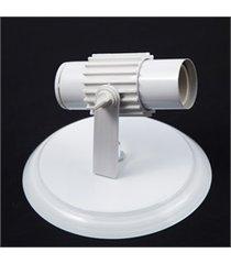 spot com aleta de sobrepor para 1 lâmpada branco
