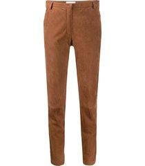 fabiana filippi bead-embellished trousers - brown