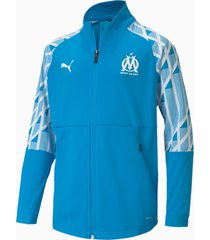 olympique de marseille voetbaljack, blauw/wit, maat 176   puma