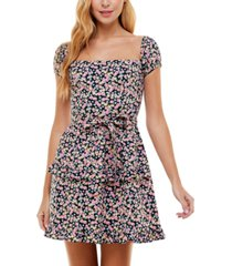 city studios juniors' on-and off-the-shoulder fit & flare dress