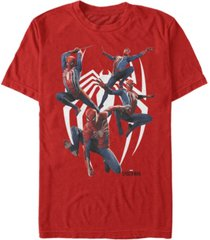 marvel men's spider-man many poses of spider-man short sleeve t-shirt
