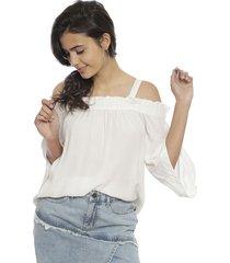 blusa noisy may kyla off shoulder blanco - calce holgado