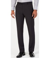 perry ellis men's portfolio slim-fit stretch black solid suit pants