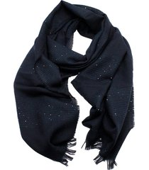fabiana filippi pashmina scarf in wool blend with sequins and lurex threads. size 60x210 cm
