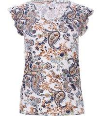 camiseta con escote en v color blanco, talla 6