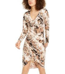 inc printed tulip-hem midi dress, created for macy's
