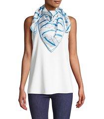 printed square silk scarf