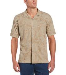 cubavera men's floral-print camp shirt
