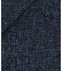 giacca da uomo su misura, lanificio ermenegildo zegna, lana lino seta blu spigata, primavera estate | lanieri