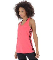 camiseta regata adidas d2m 3s tank - feminina - rosa escuro