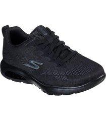 zapatos mujer  go walk air - windchill negro skechers