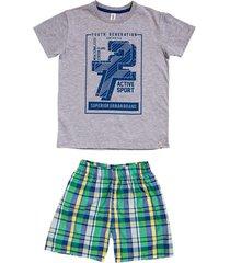 píjama de camiseta manga corta con estampado y bermuda