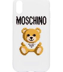 moschino 8-bit teddy iphone x case - white