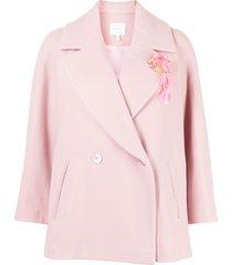 delpozo wide double-breasted blazer - pink