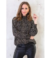 col blouse zebra deluxe