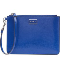 dkny gigi leather wristlet, created for macy's