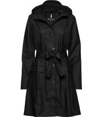 curve jacket regenkleding zwart rains